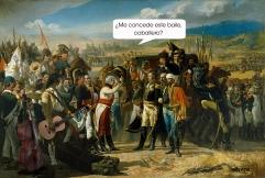 'Bailemos', por le frère. Collage basado en el cuadro 'La Rendición de Bailén', de José Casado del Alisal.