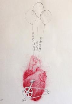 'Corazón con pedales', por le frère.